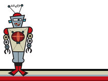 Mr. robot. Illustration of a robot  and background for any usage Royalty Free Stock Images