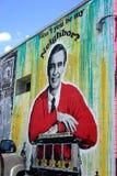Mr. Rogers - neighborhood street art Stock Images