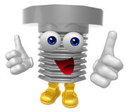 Mr screw mascot character Royalty Free Stock Photography