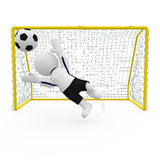 Mr. Smart Guy goalkeeper Stock Image