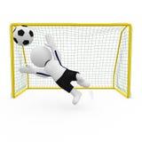 Mr. Smart Guy goalkeeper Stock Image