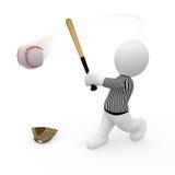 Mr. Smart Guy playing base ball Royalty Free Stock Photos