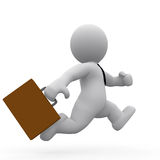 Mr. Smart Guy running. A business man running with his dispatch case in his hand vector illustration