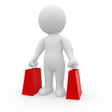 Mr. Smart Guy with shopping bags Royalty Free Stock Photos