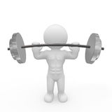 Mr. Smart Guy is training with barbell Stock Photos