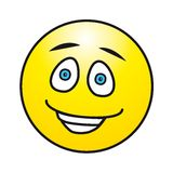 Mr Smiley. An illustration of a smiley face icon Royalty Free Stock Image