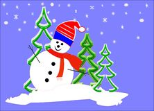 Mr snowman Stock Image
