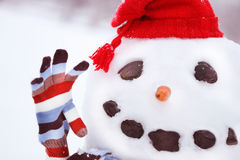 Mr. Snowman stock photography