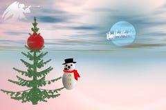 mr snowman Arkivbild