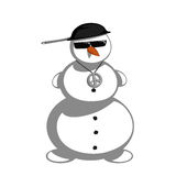 Mr snowman. Mr. Snowman is a rapper Royalty Free Stock Images