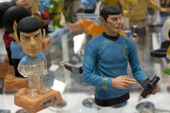 Mr spock toy figure. Mr spock different toy figures Royalty Free Stock Photo