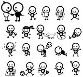Mr. Surly expression and activity icon collection set Royalty Free Stock Image
