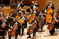 The MR Symphonic Orchestra perform Stock Image