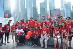 Mr Teo Chee Hean 8th Asean Para Games Group Photo Stock Photo