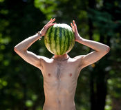 mr vattenmelon Arkivbild