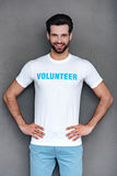 Mr. Volunteer. royalty free stock photography