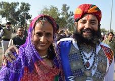 Mr Wąsy Pustynny festiwal Jaisalmer Fotografia Royalty Free