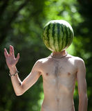 Mr.Watermelon. Imagem de Stock
