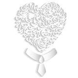 Mr. white heart Stock Image