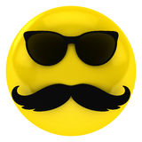 Mr X. A cool yellow guy with glasses and mustache Royalty Free Stock Images