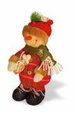 Mr Xmas. Colourful Christmas figure on white background Royalty Free Stock Photography