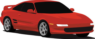 mr2 toyota turbo illustration libre de droits