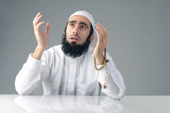 Mrabian muslim man praising God Stock Photos