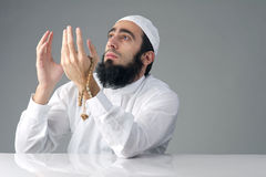 Mrabian muslim man praising God Stock Photo