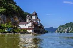 Mraconia Monastery on Danube coastline Royalty Free Stock Photography