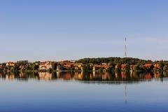 Mragowo, город на районе озера Masurian Стоковое фото RF