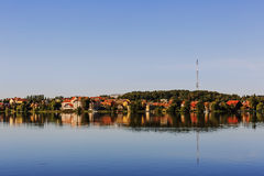 Mragowo, city at the Masurian Lake District Royalty Free Stock Photo