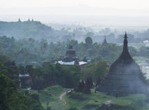 Mrauk U in the Rakhine State, Myanmar Royalty Free Stock Images