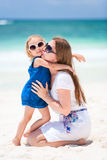 Mère et descendant des vacances Image libre de droits