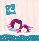 Mère et enfant de sommeil Photo stock