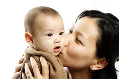 Mère et fils Photo libre de droits