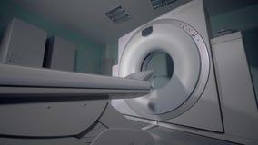 MRI扫描设备 大地貌的机器在医院 股票视频