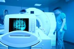 MRI-aftasten van de geduldige hersenen van ` s royalty-vrije stock foto