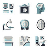 MRI blue and black flat icons Stock Photos