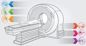 MRI diagnostyk ilustracja wektor