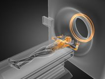 MRI examination made in 3D. Graphics Royalty Free Stock Photo