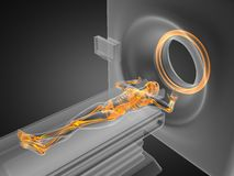 MRI examination made in 3D. Graphics Stock Photography