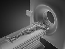 MRI examination made in 3D. Graphics Stock Images