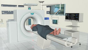 MRI Human Brain Scan, stock footage Stock Photos