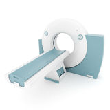 MRI image of the device Stock Images