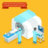 MRI process. 3d isometric health and care vector concept Stock Photo