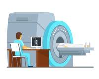 MRI scan and diagnostics. Health  care vector concept. MRI scan and diagnostics. Health and care vector concept. Diagnostic mri patient, hospital mri, scan mri Stock Images
