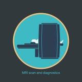 MRI scan and diagnostics vector. Vector illustration vector illustration
