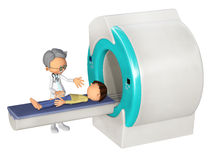 MRI Scanm Doctor and little boy, 3d Royalty Free Stock Photo