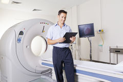 MRI scanner and doctor Stock Photos