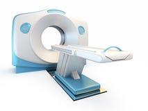 MRI Scanner, getrennt auf weißem Hintergrund. Stockbild